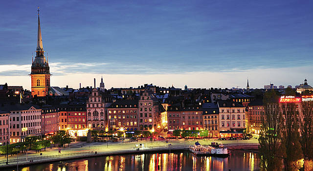 Stockholm by night by Nick Barkworth
