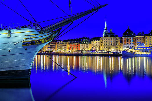 Stockholm Old City blue hour serenity by Dejan Kostic