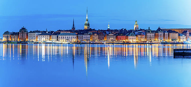 Stockholm Old City fantastic reflection in the Baltic Sea by Dejan Kostic