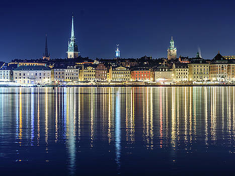 Stockholm Old City Magic quartet reflection in the Baltic Sea by Dejan Kostic
