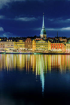 Stockholm Old City reflection in the Baltic Sea by Dejan Kostic