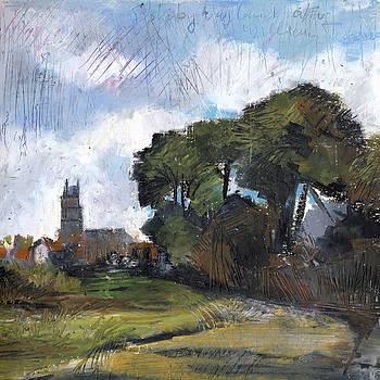 Martin Stankewitz - Stoke by Nayland, oil pastel after William Turner