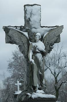 Stone Angel Of Ice And Snow by Gothicrow Images