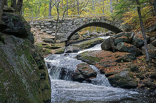 Stone Arch Bridge in Autumn by Wayne Marshall Chase