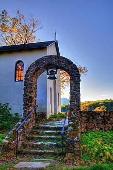 Stone Archway - St. Francis Chapel - NH by Joann Vitali