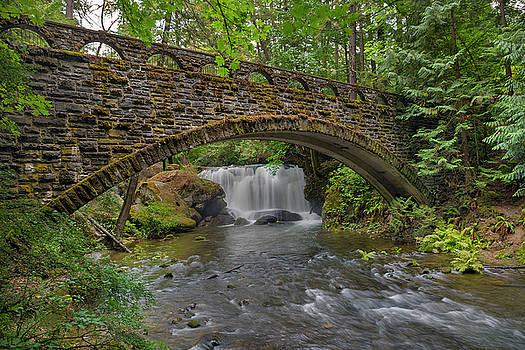 Stone Bridge at Whatcom Falls Park by David Gn