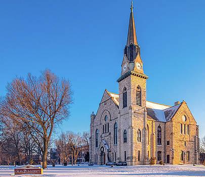 Stone Chapel in Winter by Allin Sorenson