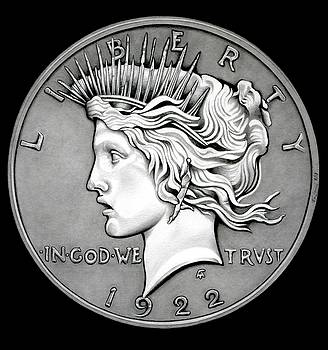 Stone Face Peace Dollar by Fred Larucci