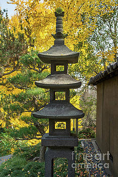 Stone Lantern Fall by Jamie Pham