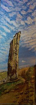 Stone of compassion Lewis Scotland by Patricia Hovey
