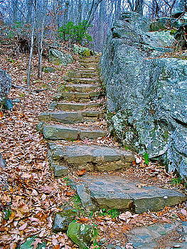 Stone Staircase by E Robert Dee