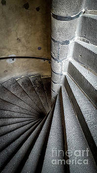 BERNARD JAUBERT - Stone stairway in old building