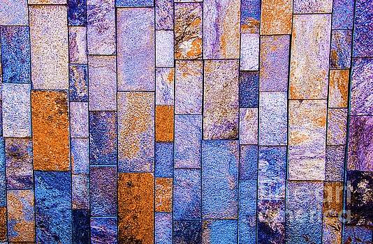 Stone Wall in Abstract 543 by D Davila