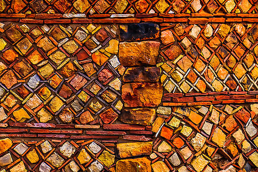 Stone Wall Santa Fe by Garry Gay