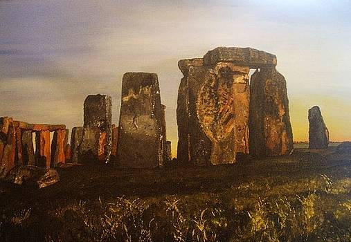 Stonehenge at Dawn Summer Solstice by Tracey Mitchell