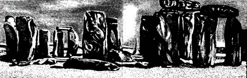 Stonehenge black and white by Barbara Leavitt