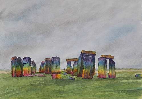 Stonehenge rainbow by Debbie Homewood