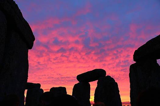 Stonehenge Solstice Sunrise by David Bouchard