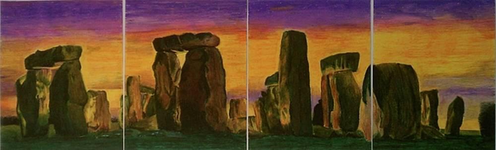 Stonehenge x 4 by Nicholas Gratzl