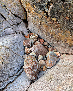 Stones and Rock, River Coupall, Scotland by David Stanley
