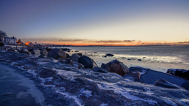 Stonington Point Blue Hour by Kirkodd Photography Of New England