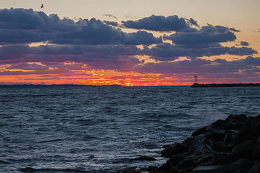 Stonington Point Sunset by Kirkodd Photography Of New England