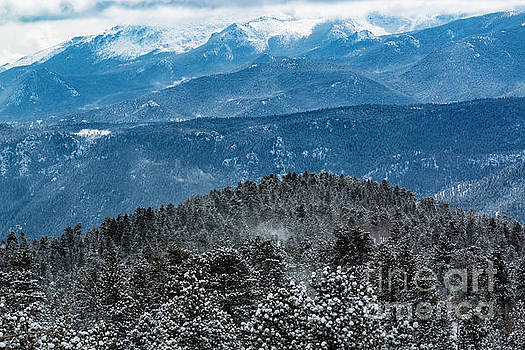 Steve Krull - Storm and Blowing Snow on Pikes Peak Colorado