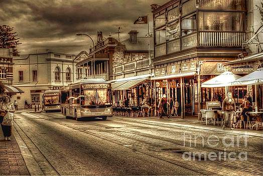 Cappuccino Strip Fremantle  by Hans Peter Goepel