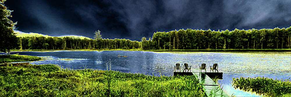 Storm Approaching the Pond by David Patterson