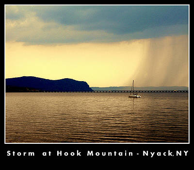 Storm at Hook Mountain Nyack NY by Poster by Irene Czys