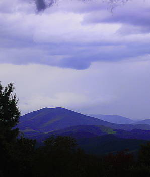Storm at Lewis Fork Overlook 2014a by Cathy Lindsey
