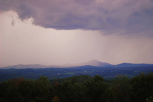 Storm at Lewis Fork Overlook by Cathy Lindsey