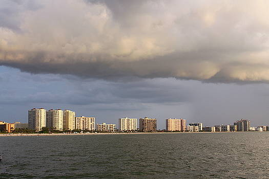 Storm Cloud Over Belleair Beach by Carol Turner