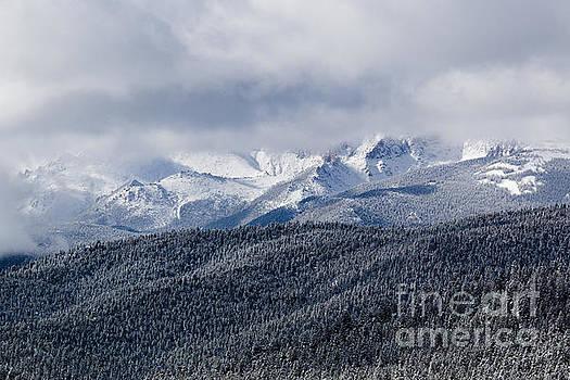 Steve Krull - Storm Clouds Receding and Fresh Snow on Pikes Peak