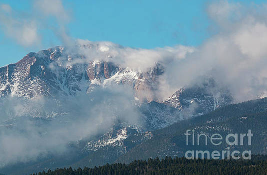 Steve Krull - Storm Clouds Float Past Pikes Peak