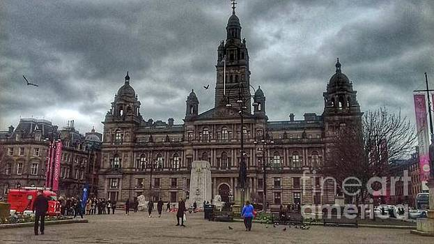 Storm Clouds Over George Square by Joan-Violet Stretch