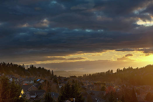 Storm Clouds over Happy Valley during Sunset by David Gn
