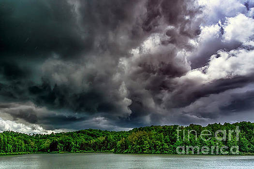 Storm Clouds over Lake by Thomas R Fletcher