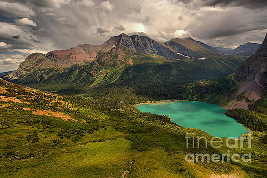 Storm Clouds Over The Grinnell Valley by Adam Jewell