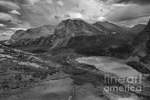 Storm Clouds Over The Grinnell Valley Black And White by Adam Jewell