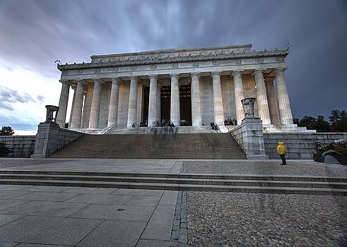 John King - Storm Clouds Over Washington DC at the Lincoln Memorial