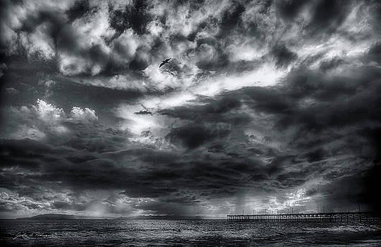 Storm Clouds Ventura CA Pier by John A Rodriguez