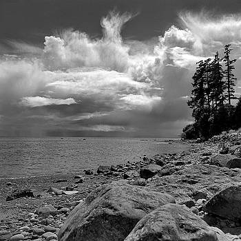 Storm Clouds Wiffen Spit Sooke  BC by Gregory Varano