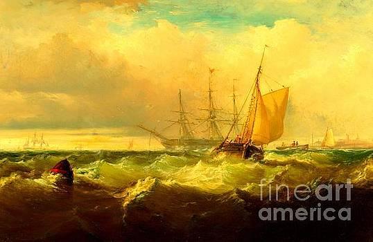 Peter Gumaer Ogden - Storm Off New Castle Delaware 1857