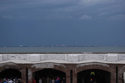 Storm Over Charleston from Fort Sumter by Gordon Mooneyhan