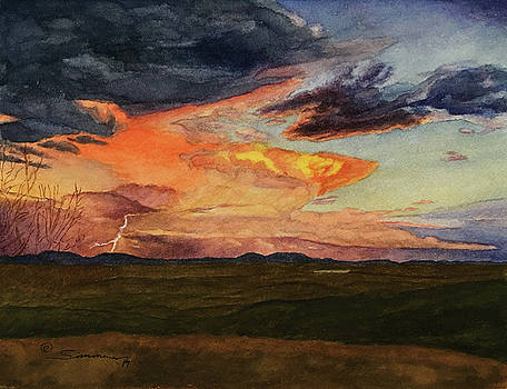 Storm Over Davis Mountains by C Wilton Simmons Jr