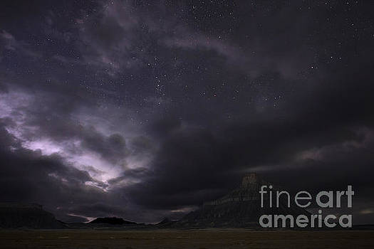 Storm over Factory Butte by Keith Kapple