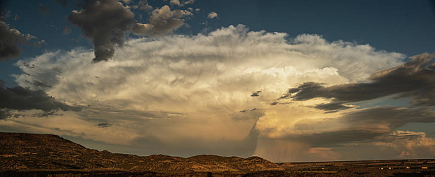 Storm Over New Mexico Panorama by Steve Gadomski