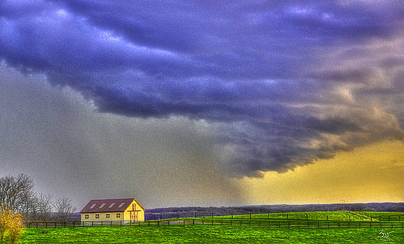 Sam Davis Johnson - Storm Over River