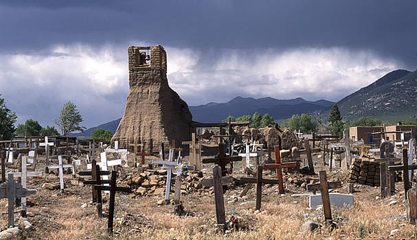 Sandra Bronstein - Storm over Taos Graveyard